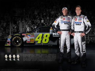 2009 Sprint Cup Series Champion Jimmie Johnson And Team Lowes Racing
