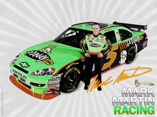 Mark Martin Car 5 Go Daddy