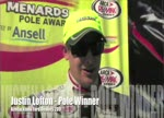 Justin Lofton - Pole Winner - Kentuckiana Ford Dealers 200