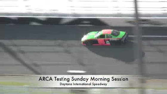 ARCA Daytona Test Sunday AM Session