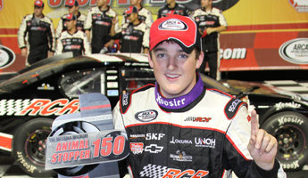 Dillon Capitalizes on Hackenbracht's Misfortune, Wins Messina Wildlife Animal Stopper 150