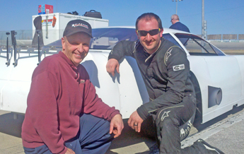 "Father-son duo Fred & Brian Campbell test & tune at Toledo in prep for ""Border Wars"" 7-Up 150"