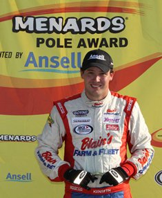 Kenseth wins Menards Pole Award presented by Ansell with top qualifying lap at Madison