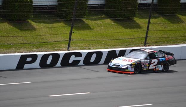 Praytor shakes down car, improves speed at Pocono