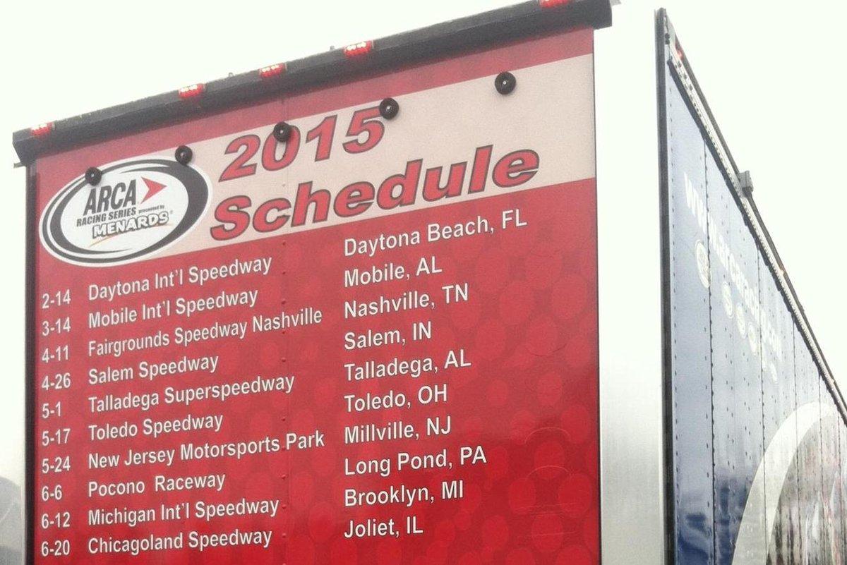 ARCA hauler heads toward Daytona