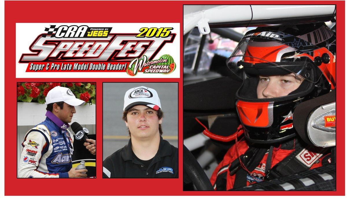 Self, Bowen and Elliott part of SpeedFest 2015 this weekend at Watermelon Capital Speedway