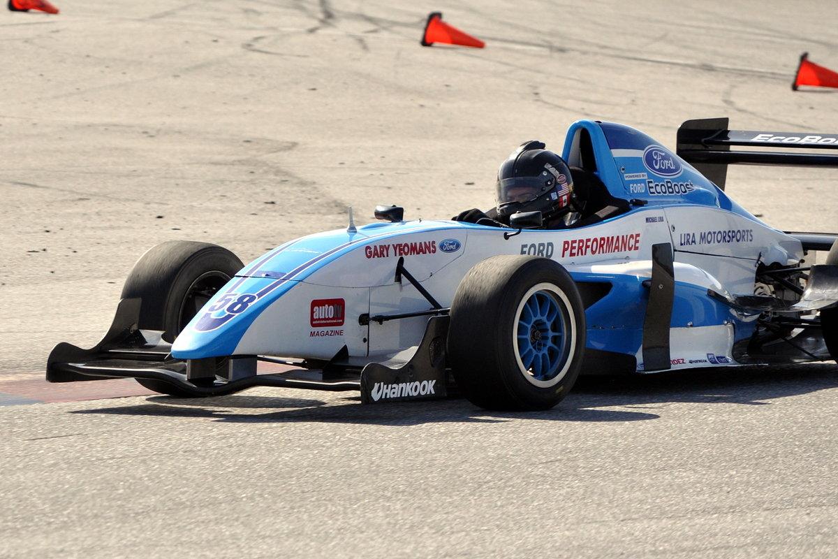 ARCA regular Lira tests open wheel car at Palm Beach