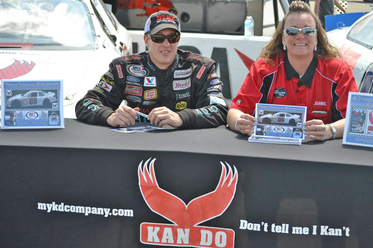 """Kan Do"" attitude at Peterson Motorsports…driver James Swanson has high hopes in 2015 with new sponsor for full ARCA pull"