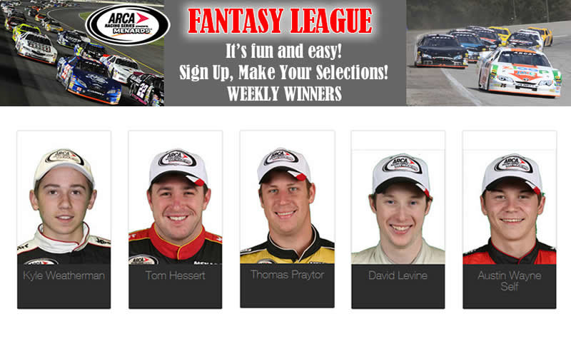 Make your picks now for ARCA Fantasy League