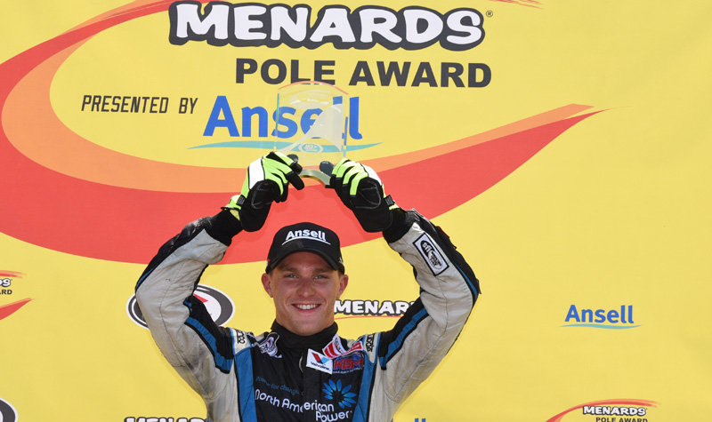 Career-first Menards Pole for Kligerman at NJMP