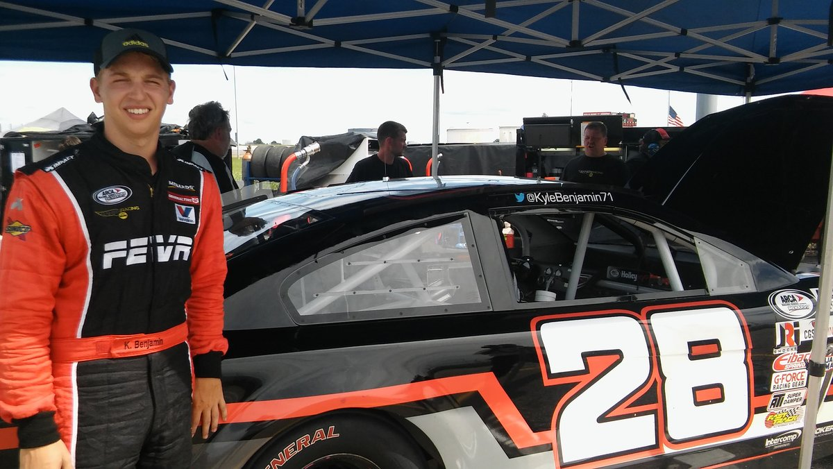 Benjamin fastest overall at Lucas Oil; Menards Pole Qualifying next
