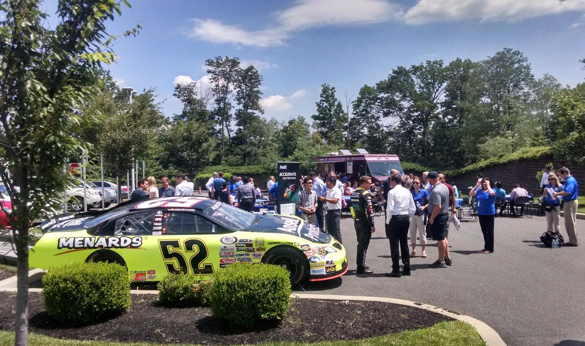 Kurzejewski, Schrader make pit stop at Ansell corporate headquarters