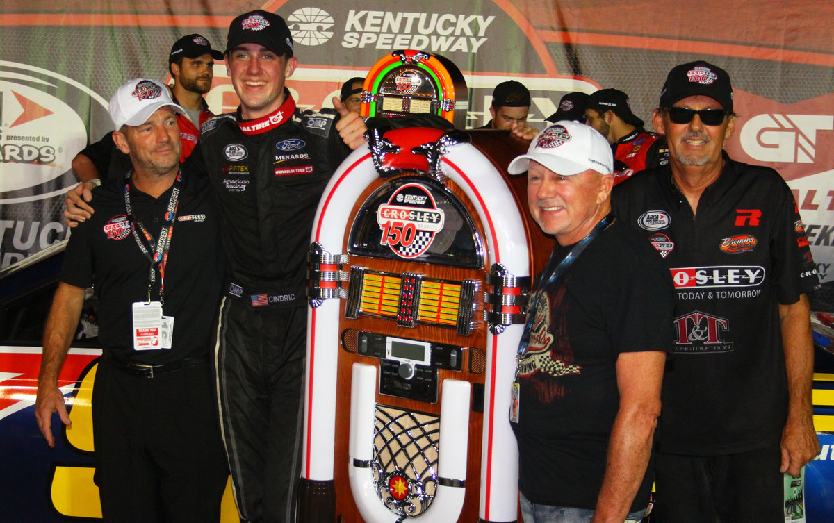 Rookie Cindric sizzles in Kentucky thriller; wins Crosley 150 in overtime