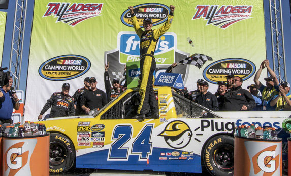 """On This Day"" Grant Enfinger gets career-first NASCAR win"