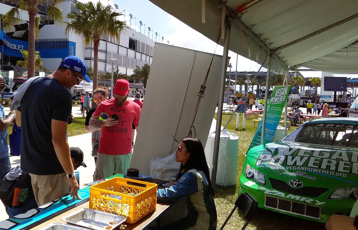 Munter, Vegan car on display on Daytona's Midway