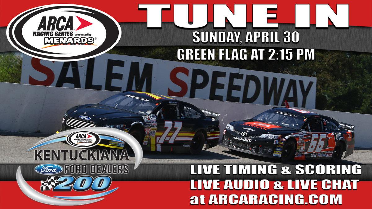 Live Timing, Scoring, Chat from Salem Saturday & Sunday; Live Audio Raceday Sunday