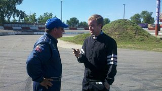 Ken Schrader With Jared Nelson Pioneer Press