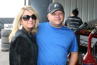 Bobby Hamilton Jr and wife