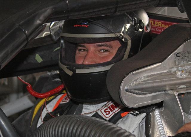 Sean Corr in car at Daytona test 2014