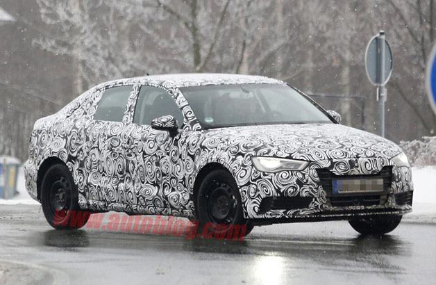 Audi A3 Sedan Spy Shots