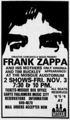Frank Zappa Ad1972