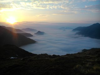South Glen Shiel Ridge, cloud inversion