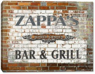 Brick Walll Canvas Zapp
