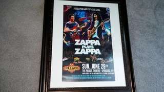Zappa plays Zappa autographed poster