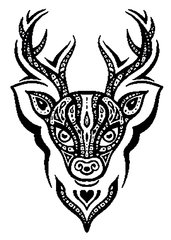 31644468 Deer Head Seamless Pattern