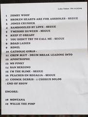 South Lake Tahoe Setlist