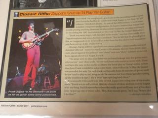 Zappa Guitar Info