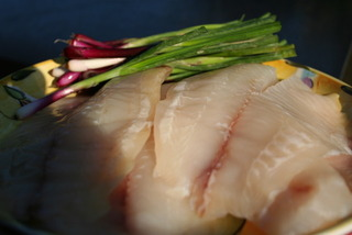 Talapia Red Scallions