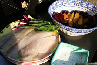 Talapia Roasted Beets R Ed Scallilion Prep