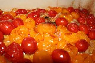 Roasted Heirloom Tomatoes Shallots