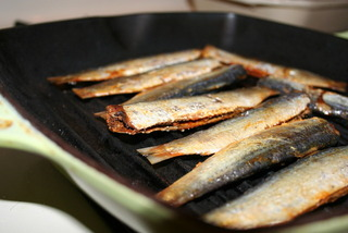 Grilling Anchiove Sardines