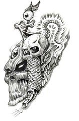 Trip S Tattoo Flash 1464