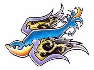 Trip S Tattoo Flash 1729