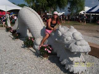 My sister @ dragon boat races for breast cancer