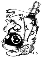 Trip S Tattoo Flash 2407