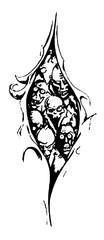 Trip S Tattoo Flash 2584
