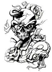 Trip S Tattoo Flash 3668