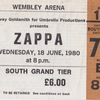 2nd Night Zappa Ticket