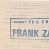 Frank Zappa Ticket