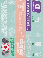 World Cup 86 Ticket