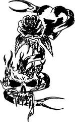 Trip S Tattoo Flash 3917