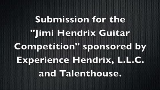 """Are You Experienced"" Cover by Max Boras/Entry for Jimi Hendrix Guitar Competition"