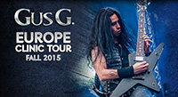 Gus G Clinics in Europe