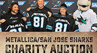 San Jose Sharks Auction Metallica Guitars for Charity