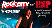 April 8: Frank Bello ESP Clinic at Rock City Music Co.