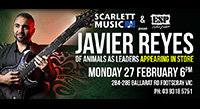 Feb 27: Javier Reyes Clinic at Scarlett Music